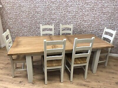 1.8m Painted Farmhouse Extending Dining Table Only