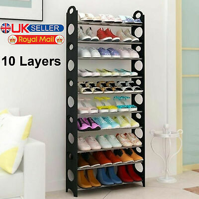 10 Tier Shoe Storage Shelf Home Footwear Rack Stand Organizer 30 Pairs Shoes