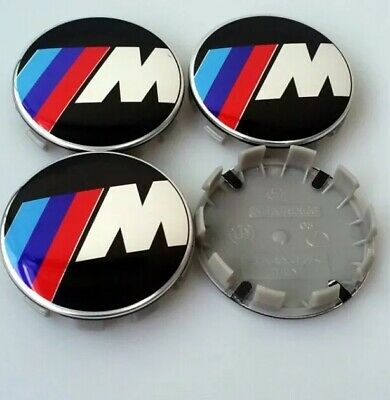 4pcs BMW M Sport 68mm Wheel Centre Caps 10 Pins for 1 3 5 7 Series E F M X NEW