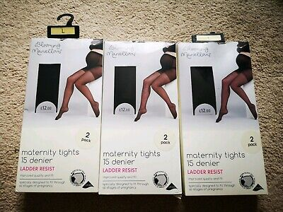 Maternity Tights Blooming marvellous Mothercare - 3 Packs of 2 tights Size Large
