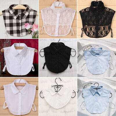 Choker Necklace Unisex Women Peter Pan Detachable Lapel Shirt Fake False Collar