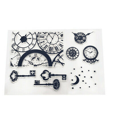 Silicone Clock Key Clear Stamp Transparent Rubber Stamps DIY Scrapbooking Craft