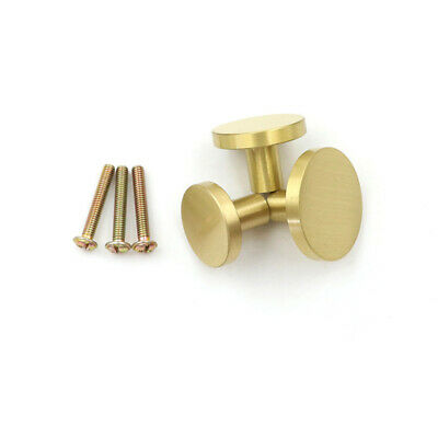 Antique Small Cabinet Door Drawer Pull Knob Handle Solid Brass Fashion