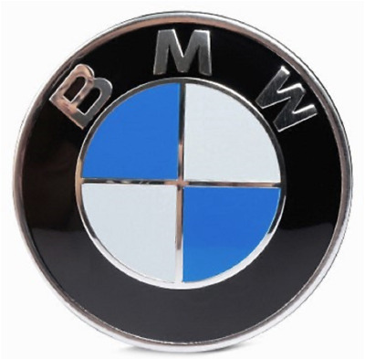 2 Pins BMW Hood/Trunk Emblem Chrome Front Badge Logo BMW Car 82 mm Free Shipping