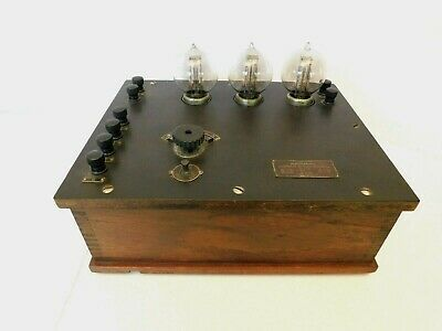 VINTAGE 20s ANTIQUE WESTERN ELECTRIC OLD RADIO AMPLIFIER GOOD AUDIOS & FILIMENTS