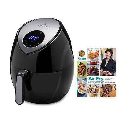 ChefWave 5.8-Quart Air Fryer With Air Fry Everything Foolproof Recipes Cookbook