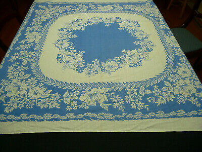 Vintage Original J B M Blue & White Tablecloth New with Tag