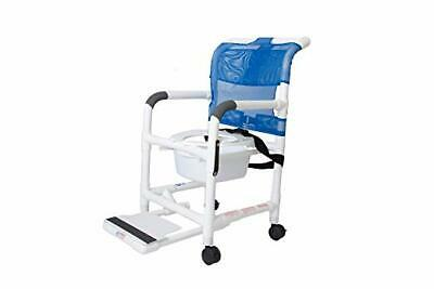 Rolling Shower Chair with Drop Arms, Locking Casters, 300 lb. Capacity