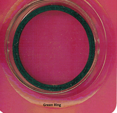AIR TITE COIN CAPSULES 39MM, Green RING, 10 ea. (06267.3-10)