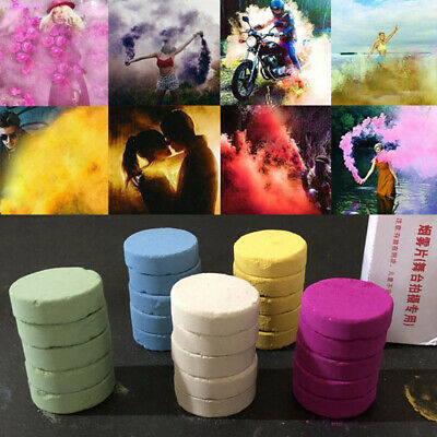 5Pcs/Box Colorful Smoke Cake Pills Show Smoke Halloween Decoration Party supply
