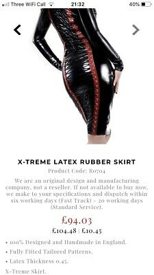 R1669 Rubber Latex MITTS Couture *BLACK*  Fetishwear M SECONDS RRP £39.90
