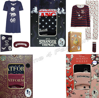 Primark Ladies Cami Pyjamas Girls Gift Box PJ Women Disney Vest shorts Eye mask