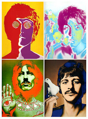 """BEATLES By Avedon • 1967 Psychedelic Portraits  - On 16x20"""" Heavy HQ Photo Paper"""