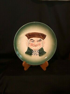 VTG Hal Sey Fifth Smiling Winking Toby Man 3D Face Hanging Ceramic Wall Plate