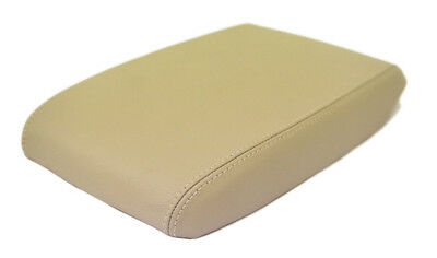 Beige Center Console Lid Armrest Cover For 01-04 Volvo S60 Synthetic Leather