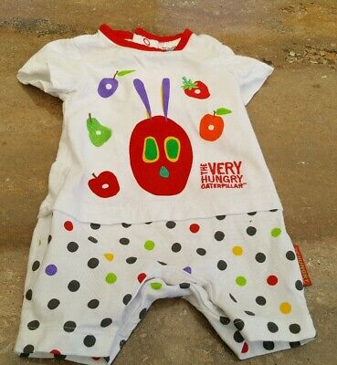 The Very Hungry Caterpillar Short Sleeved Up To 1 Month Bodysuit
