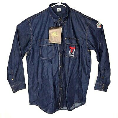 FS8-DNM REVCO BLACK STALLION FR FLAME RESISTANT DENIM WORK SHIRT