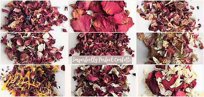 Biodegradable Wedding Confetti Real Air Dried Flower Petals Red Yellow Pink Blue