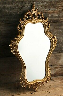 Vintage Syroco Ornate Gold Wall Mirror dated 1965