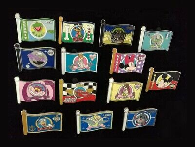 Disney Pin WDW - Mystery Box Set - Character Flags Complete Set of 14 LE