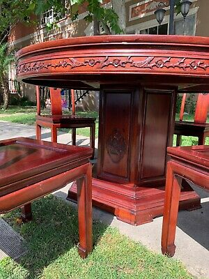 "Chinese rosewood table 54"" With 4 Chairs"