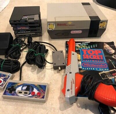 Nintendo Entertainment System NES-001 w/ Controllers games And Ect Free shipping