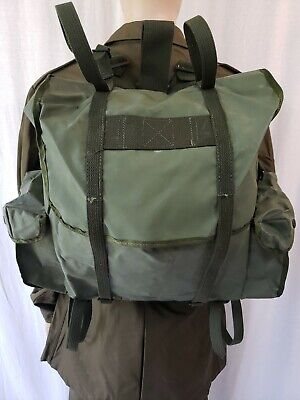 Belgian Military Surplus 40L Rucksack OD Green Waterproof / Resistant Backpack