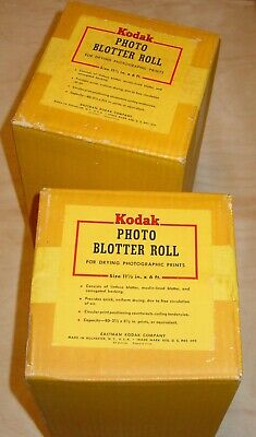 "2 Vintage Kodak Photo Blotter Rolls,For Drying Prints,11.5"" wide 6 ft. Rolls"