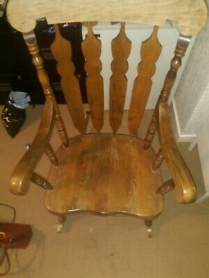 Vintage Sturdy Wooden Rocking Chair