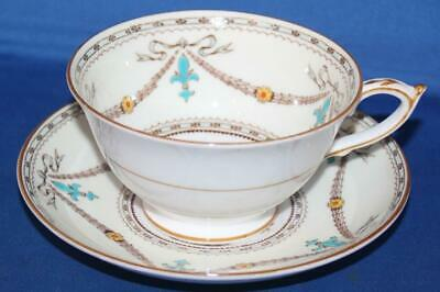 Paragon Beaupre Fine Bone China  Footed Coffee / Tea Cup and Saucer Set
