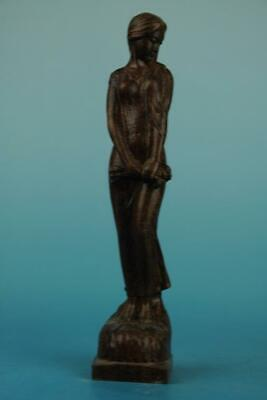 Chinese eaglewood hand-carved Beauty Belle Statue Sculpture a02