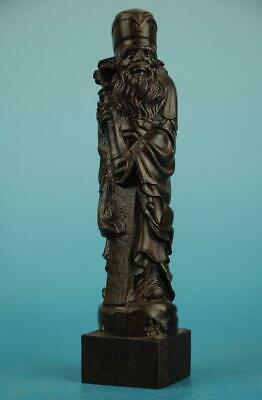 Chinese eaglewood hand-carved eight immortals chang kuo-lao immortal Statue b01