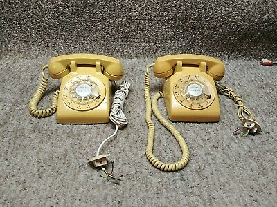 2 of the Vintage Western Electric Yellow Rotary Dial Telephone Model C/D500