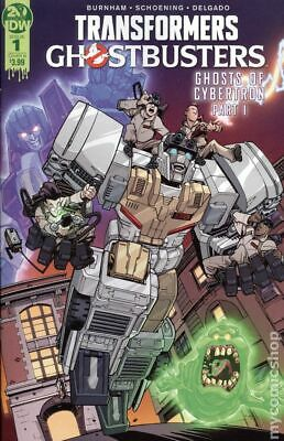 Transformers Ghostbusters (IDW) 1B 2019 Roche Variant NM Stock Image
