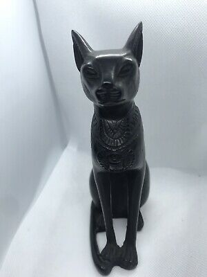 Rare EGYPTIAN ANTIQUE Statue Of BASTET GODDESS PHARAOH Ubasti CAT EGYPTIAN BC