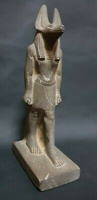 RARE ANCIENT EGYPTIAN ANTIQUES  Of God ANUBIS  Bazalt Stone EGYPT 1650 BC