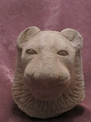 RARE  EGYPTIAN ANTIQUES Head Of Goddess SEKHMET Powerful Deities Stone BC