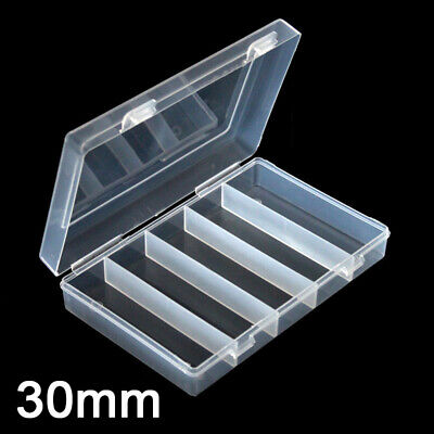 100Pcs 30mm Clear Plastic Round Case Coin Storage Capsules Holder Round-Box