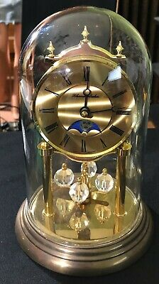 GERMAN MADE Schmeckenbecher Dome Clock With Moon Phase Time Bomb Clock Retired