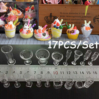 Toys Figurines Goblets Model Kitchenware Ice Cream cup Miniatures Tableware