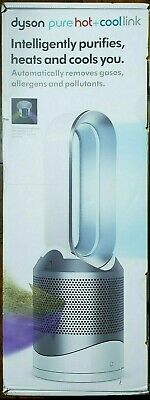 Dyson Pure Hot + Cool Link HP02 Wi-Fi Enabled Air Purifier, White/Silver - NEW!