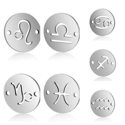Jewelry DIY Accessories 12 Constellation Pendant Charms for Bracelet Necklace