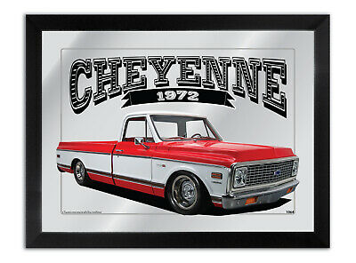Bar Mirror Artwork Suit-Red-1972-Cheyenne-10-Enthusiast Other Colours Available