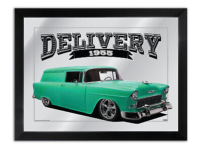 Bar Mirror-Art-Suit Aqua-1955-Chev-Delivery-Enthusiast Other Colours Available