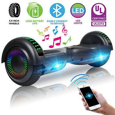 "6.5"" Bluetooth Hoverboard Electric Self Balancing Scooter w/ LED Lights UL2272"
