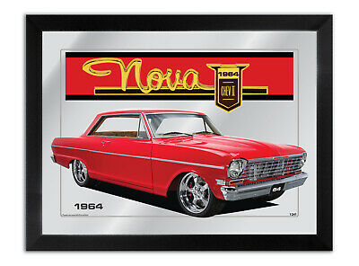 Bar Mirror Artwork Suit Red Chevrolet Nova 1964 Other Colours Available