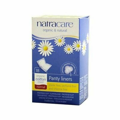 Natracare Organic Natural Cotton Biodegradable Panty Liner Normal Wrapped 18pcs