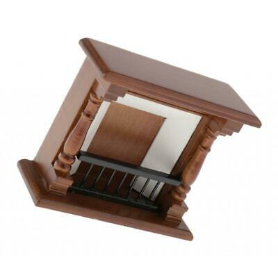 Vintage 1:12 Scale Miniature Furniture Dollhouse Fireplace Handcrafted