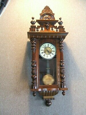 Antique Gustav Becker Drop Dial Wall Clock