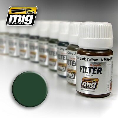 Ammo of Mig A.MIG-1508 Green for Grey Green - Filter Enamel 35ml